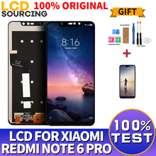 100% ORIGINAL For Xiaomi Redmi Note 6 Pro LCD Touch Screen Digitizer Assembly + Frame For Redmi Note 6 Pro Display Replace