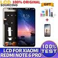 100% ORIGINEEL Voor Xiaomi Redmi Note 6 Pro LCD Touch Screen Digitizer Vergadering + Frame Voor Redmi Note 6 Pro display Vervangen