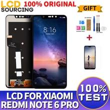 Yeni LCD ekran Için Xiaomi Redmi Not 6 Pro Redmi Için Çerçeve dokunmatik ekran digitizer ile LCD Note6 Pro Meclisi 10 Nokta dokunmatik