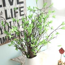 Artificial Plant Leaves DIY Home Party Office Hotel Garden Decoration Wedding Flower Photography Props Silk Simulation Flowers