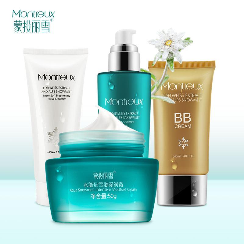 Montreux Skin Care Set Aqua Snowmelt Lotion Facial cleanser BB Cream Facial Cream Whitening Acne Treatment moisturizing 2016 Hot