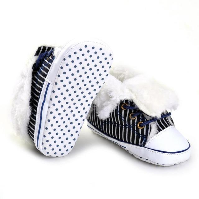 Chaud!!!Bébé arc chaussures semelle souple hiver chaud 11-13cm rouge C972FxJt