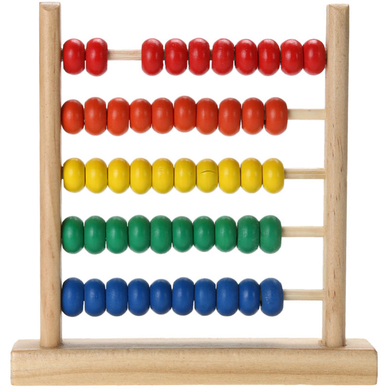 Rainbow Abacus Bead Mathematics Montessori Materials Toy Children Kids Wooden Education Wooden Early Learning  Toys For Children