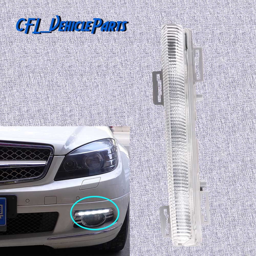 Front Left Driver Side DRL Daytime Running Lamp Fog Light 2049068900 For Mercedes-<font><b>Benz</b></font> C-Class W204 S204 E-Class <font><b>R172</b></font> W212 image