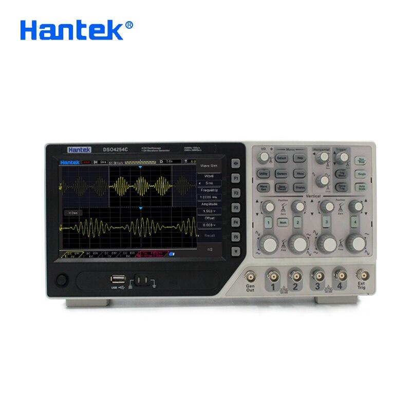 Image 2 - Hantek oficial dso4254c osciloscópio digital 4 canais 250 mhz lcd usb portátil osciloscópios + ext dvm função de faixa automáticausb oscilloscopedigital oscilloscopeoscilloscope 4 channels -