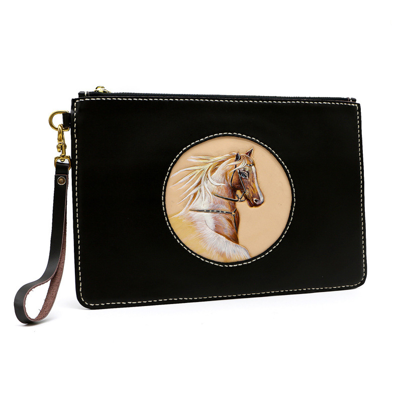 Women Men Vegetable Tanned Leather Bag Money Holder Youth Real Cowhide Fine Horse Clutch Purse Clutches Envelope GiftsWomen Men Vegetable Tanned Leather Bag Money Holder Youth Real Cowhide Fine Horse Clutch Purse Clutches Envelope Gifts