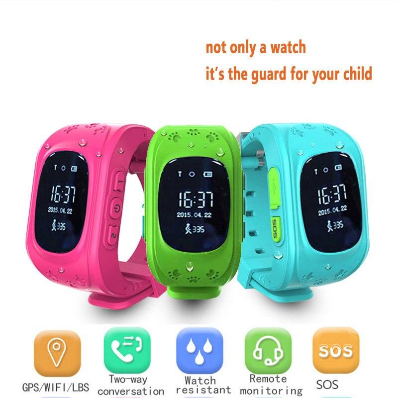 Montre Smart Watch Filles Q50 Tactile Écran GPS Anti-Perdu SOS Appel Enfant Tracker ChildrenRemote Moniteur Enfant Garde Android Smartwatch