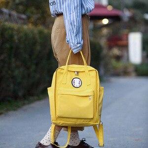 Image 1 - Kobiety Canvas plecaki szkolne torby dla nastolatków dziewczyny czarne urocze plecaki szkolne torby podróżne na ramię torby na książki Famale plecak