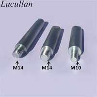Stainless Steel M14 Car Care Polishing Accessories Tools Auto Detailing Rotary Polisher Extension Shaft