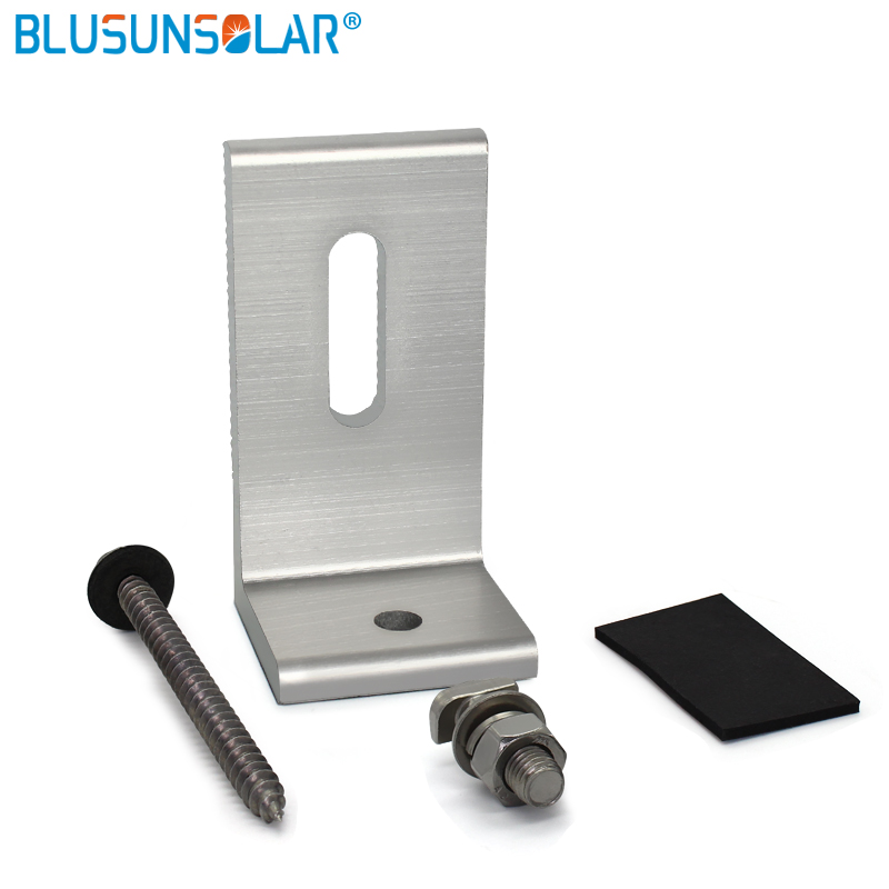High Quality L-type  Panel Mounting bracket Solar End Clamp 100% Aluminum Solar Clamp for Framed Module