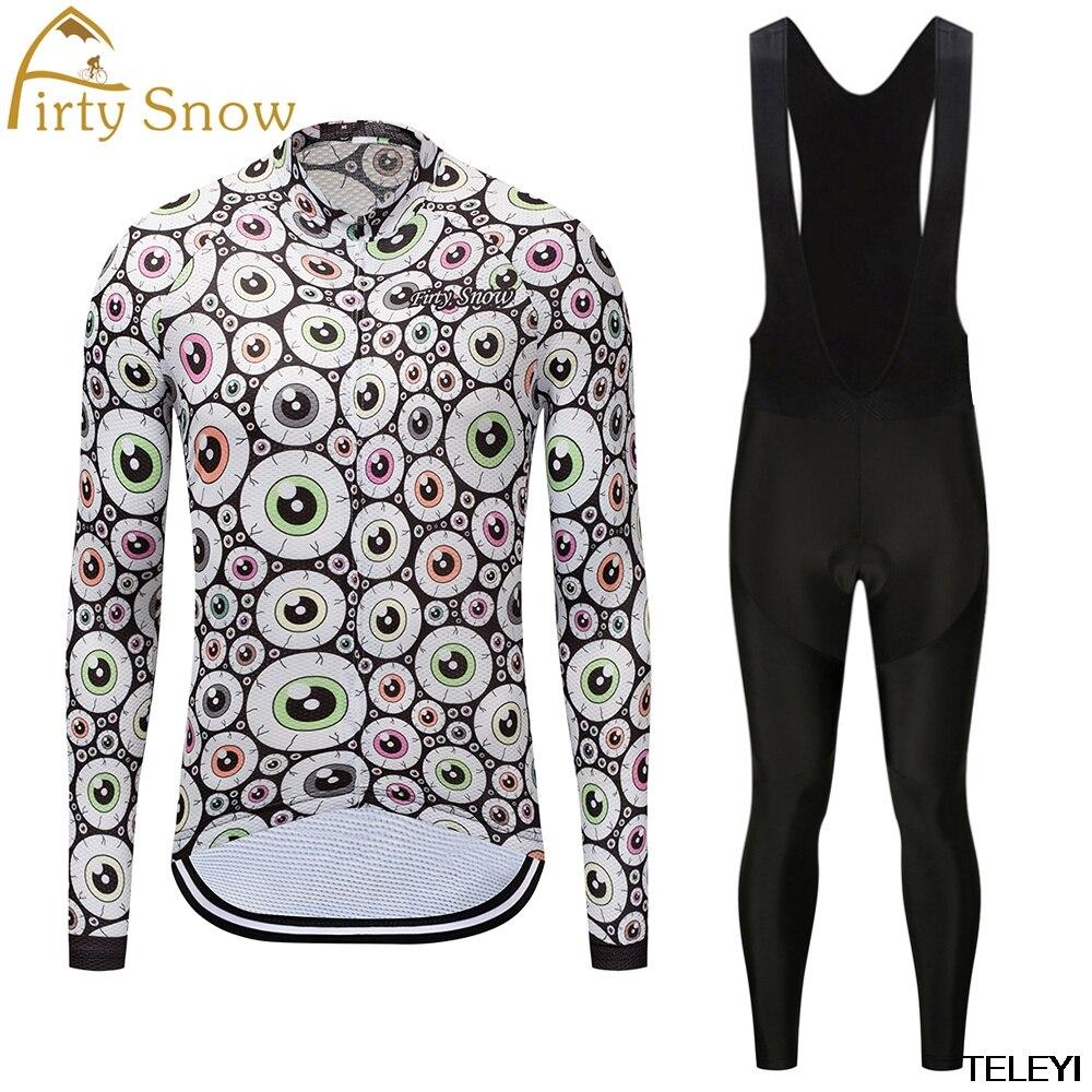 firty snow Brand Cycling Suit Jerseys Newest Pro Fabric Wear Long Set Bike Clothing Pants MTB Bike Maillot Ropa Cycling Set