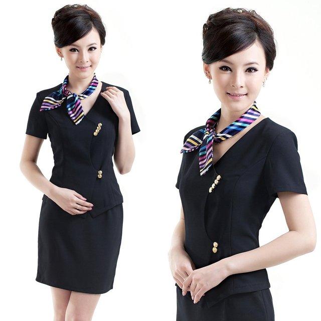 Genial Fashion Professional Womenu0027s Skirt Summer Front Desk Uniform Set Work Wear