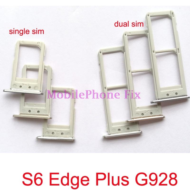 2 PCS Sim Card Tray For Samsung Galaxy S6 Edge Plus S6 Edge+ G928 Single / Dual Sim Card Tray Slot Holder Repair Parts