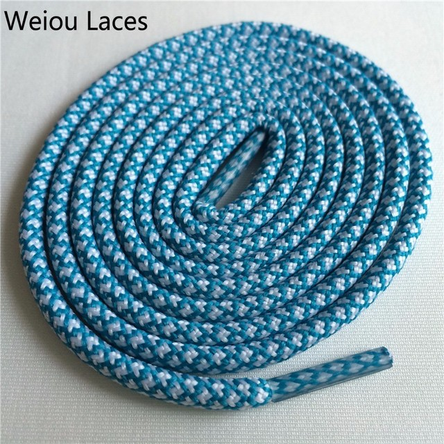 Weiou New Bright Colors Hiking Walking Two Toned Rope Laces Replacement Shoe Laces Round Rope Shoelaces For Basketball Boost 750