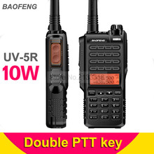 New Baofeng UV-5R Walkie Talkie Less Than 10W Portable Two Way Radio VHF UHF UV Dual Band BF-UV5R Double PTT Key Transceiver