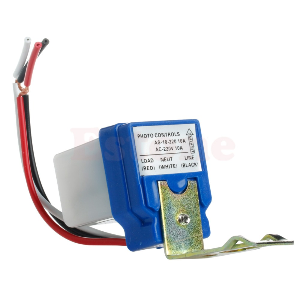 Wiring Photocell Light Control: AC 220V 10A Auto On Off Photocell Street Light Photoswitch