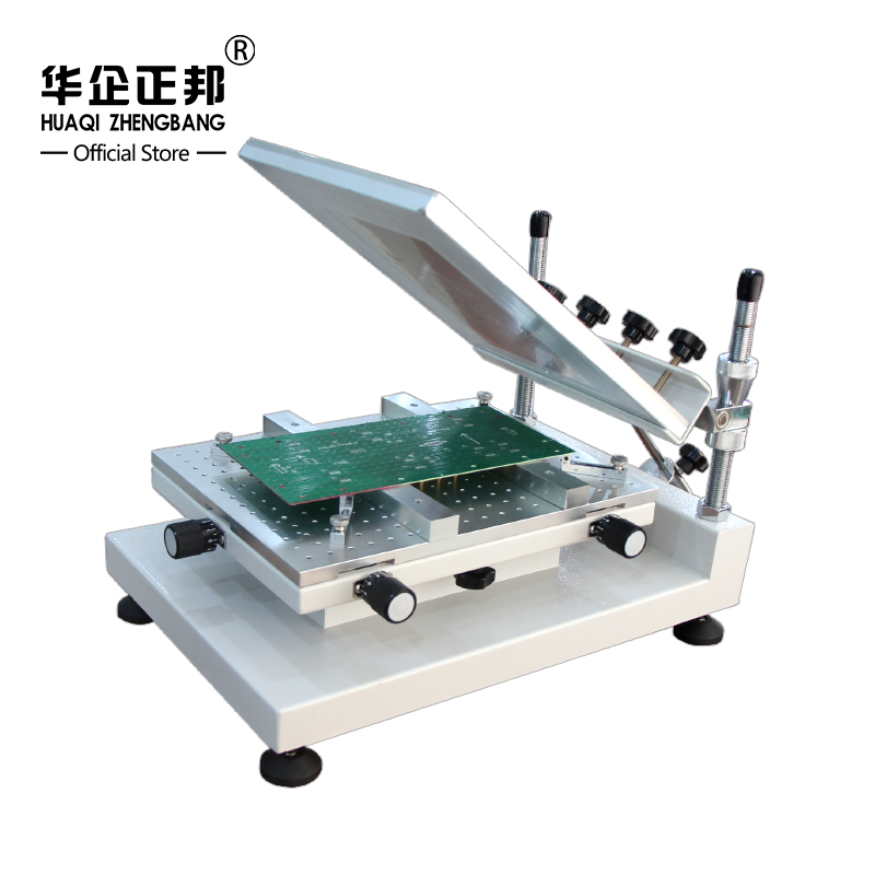 SMT Stencil Printer For SMT Production Line, SMD Manual Solder Paste Printer ZB3040H