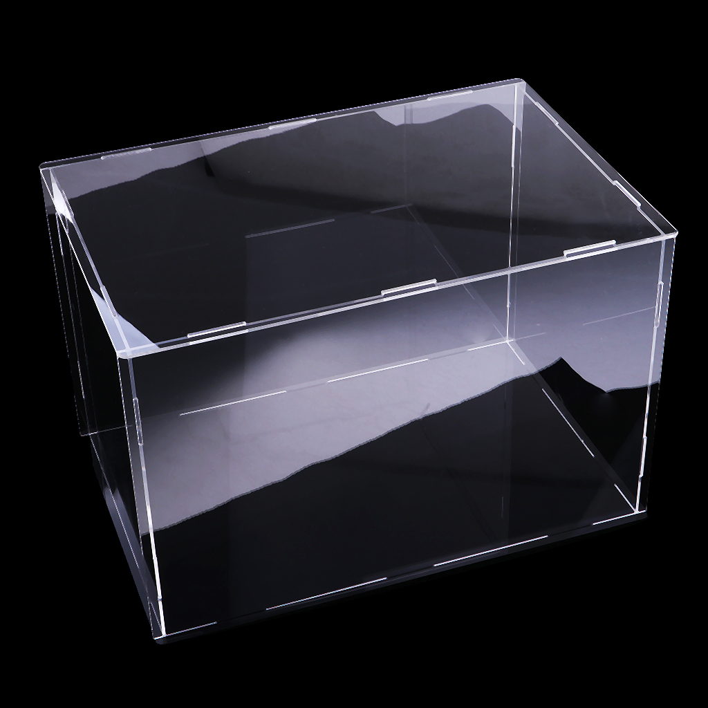 Modern Transparent Acrylic Toy Display Show Case Dustproof Box Large Ornament Protection Tool 36x16x16cm