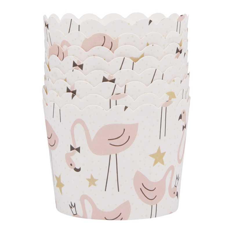 50 Pcs Colorido Flamingo Animal Dos Desenhos Animados do Unicórnio de Papel Ferramentas de Cozimento Do Forno Bandeja Do Bolo Do Copo Forros Xícara de Bicarbonato de Muffin Casos Queque