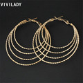 VIVILADY Fashion Big Hoop Earrings Women 19 Styles Good Plated Circle Round African Bijoux Nickel Lead Free Jewelry Gift