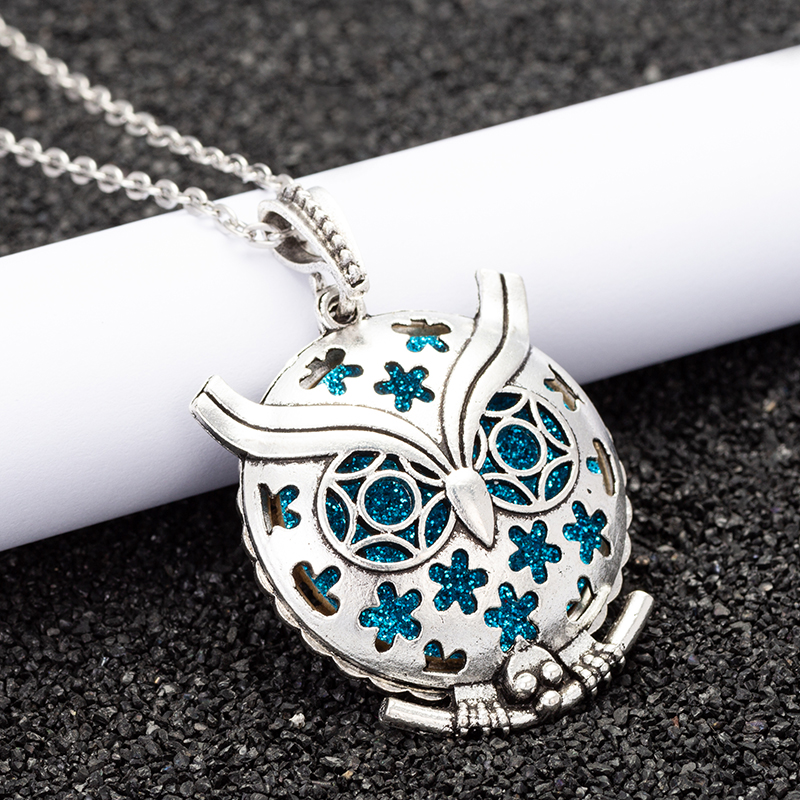 Charm Aroma Diffuser Necklace Open Antique Vintage Lockets Pendant Perfume Essential Oil Aromatherapy Locket Necklace HJ917 locket
