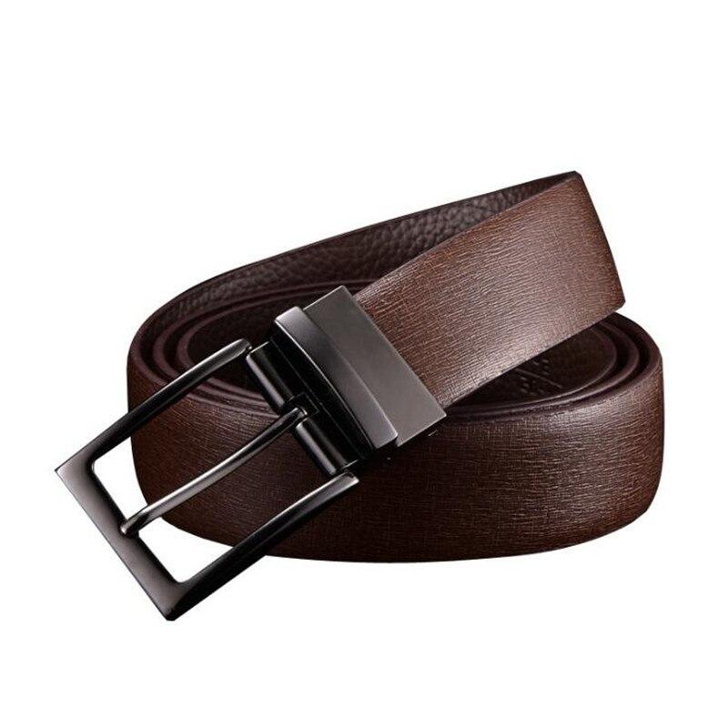 Fashion Men s Belt Brand Leather Belt Men male Split leather Strap Luxury Pin Buckle Casual
