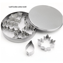 18/0 stainless steel cookie mould baking tools biscuits mold animal and Leaf shape cookie cutter mold