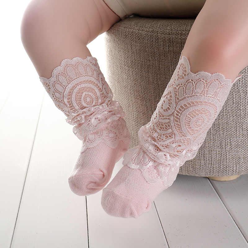 קיץ תינוק גרבי רטרו תחרה פרחוני רשת קטן בנות גרבי כותנה רכה לפעוטות ילדים גרביים