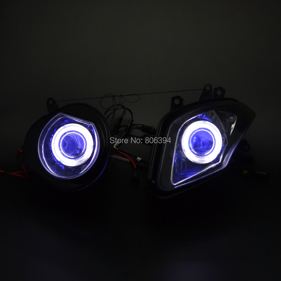 Blue Demon Eyes White Angel Eyes HID Projector Custom ...