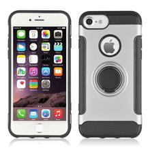 360° Rotating TPU+PC Ultra Thin Carbon Fiber Ring Bracket Mobile Phone Case For iPhone 7 8 4.7 Anti Scratch