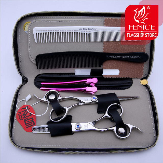Top quality hairdressing scissors set left-handed barber salon tools cutting and thinning shears 6.0 inch
