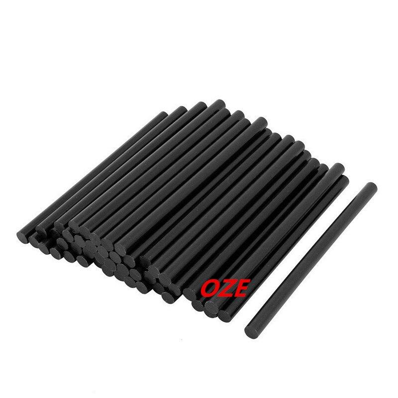 50 pièces 200mm x 11mm Bâton de Colle Thermofusible Noir pour Outil Électrique Chauffage Pistolet À Colle