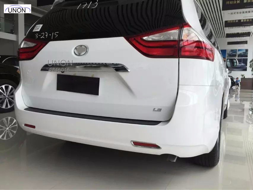 For Toyota Sienna Rear Trunk Streamer Garnish 2015  2017 ABS Chrome Chromium Styling Tailgate Trim  Car Accessories 1pcs car styling abs chrome door body mouldings protection liner garnish covers strip 4pcs for toyota land cruiser lc200 2008 2017
