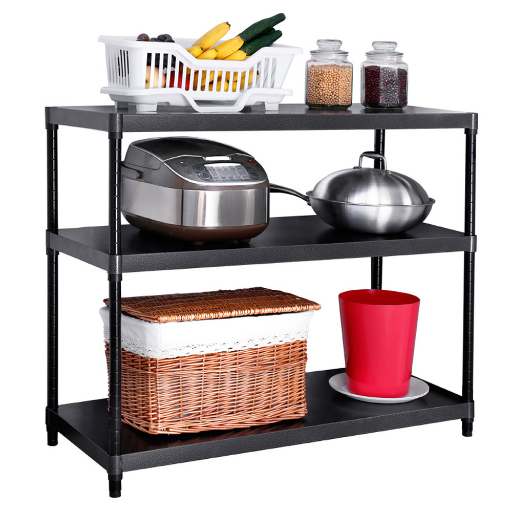 Kitchen racks floor 3 layer microwave oven racks spice rack kitchen storage shelf warehouse shelves wx8161401 retractable microwave oven shelf 2 layer home kitchen multi function black storage rack floor standing oven shelf wx8311515