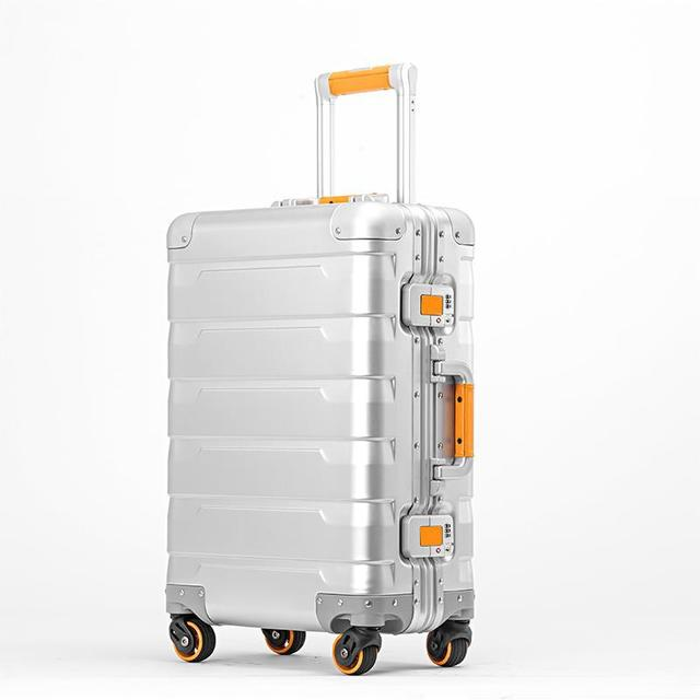 2019 New 100% aluminium spinner travel brand suitcase 20 inch luggage trolley with TSA Lock2019 New 100% aluminium spinner travel brand suitcase 20 inch luggage trolley with TSA Lock