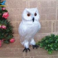 Fancytrader Vivid Simulación Owl Bird Peluche de Juguete Animales Reales Volando Pájaros Blancos Muñeca para Niños Regalos Decoración