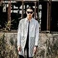 Мужская мода Сексуальные Кружева Рубашка Slim Fit Марка Дизайнер С Длинным Рукавом See Through Летние Рубашки Черный Белый