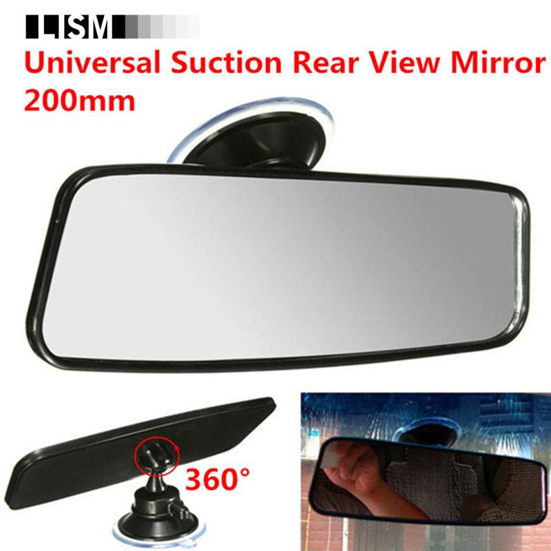 360 Rotate 200mm Universal Rear View Mirror Car Interior Mirrors Inside Rearview Mirror Suction-On Glass Espejos Retrovisores