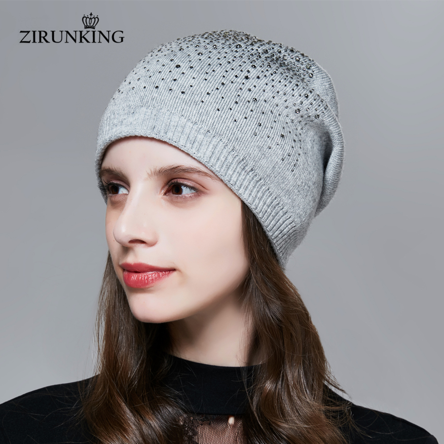 ZIRUNKING New Women Knitting Hat Fashion Female Spring Caps Casual Atumen   Beanies   for Women ZH1716