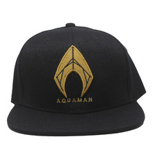 Фильм аниме Аквамен досуг шляпа супер герой шапка с вышивкой студентов кепки в стиле хип-хоп металлический логотип украшения хлопок шапки творческие подарки