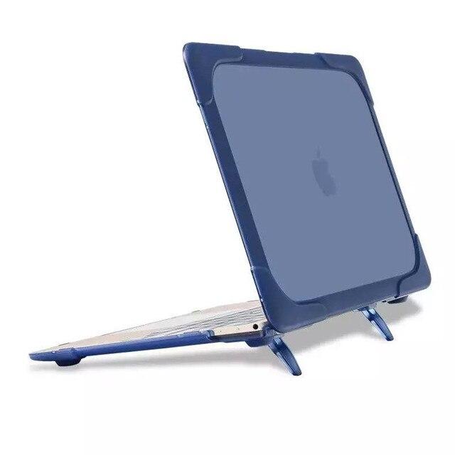 Новый Дизайн сумки Для Портативных ПК и ТПУ Shell для Apple Macbook прикрытие с воздуха MacBook Air 11 13 Всего Тела Защитный Стенд функция