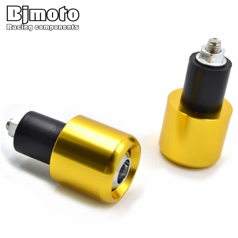 HBE-013 Motor CNC Handlebar Grip Bar Berakhir Slider Cap Plugs Berat Untuk Honda Yamaha TMAX 530 500 R3 Kawasaki Z800 Z1000