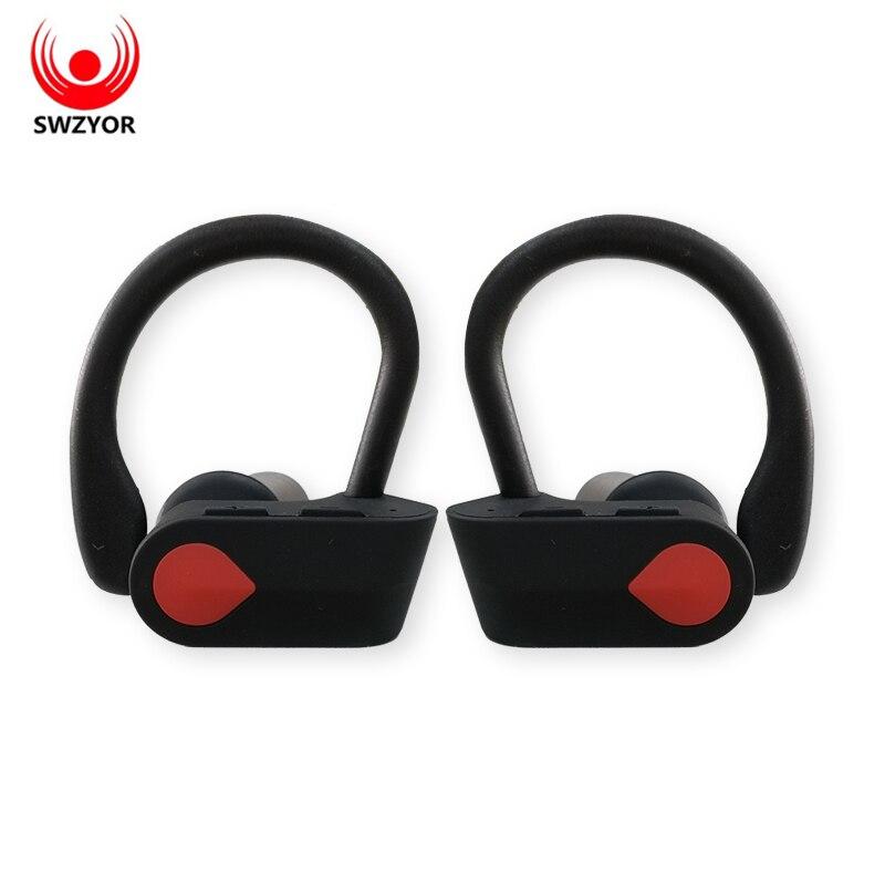 SWZYOR LY-20 TWS Senza Fili Binaurale Auricolare Bluetooth Auricolari Ear-hook Bluetooth di Sport Auricolare Con microfono Per Tutto Il telefono Intelligente