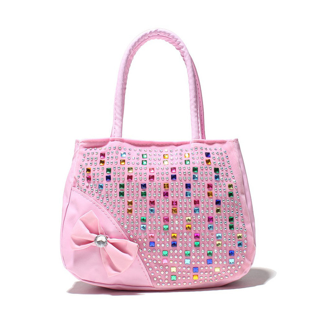Girl handbag kids tote Hot Selling Kids Girls Fashion Handbags Children Shoulder Zipper Party Messenger Bags for girl 2
