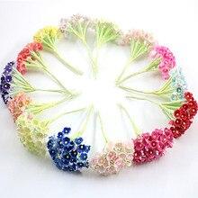 8 шт. DIY Мини Искусственный цветок розы бумажный букет Свадебный венок украшения аксессуары искусственный цветок