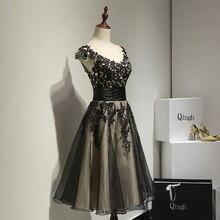 Sexy Beautiful Vestidos Para Mujer de Baile Vestido de Cóctel para la Fiesta de Cóctel de Encaje Corto Poco Negro Vestido de renda vestidos de coctel jurk