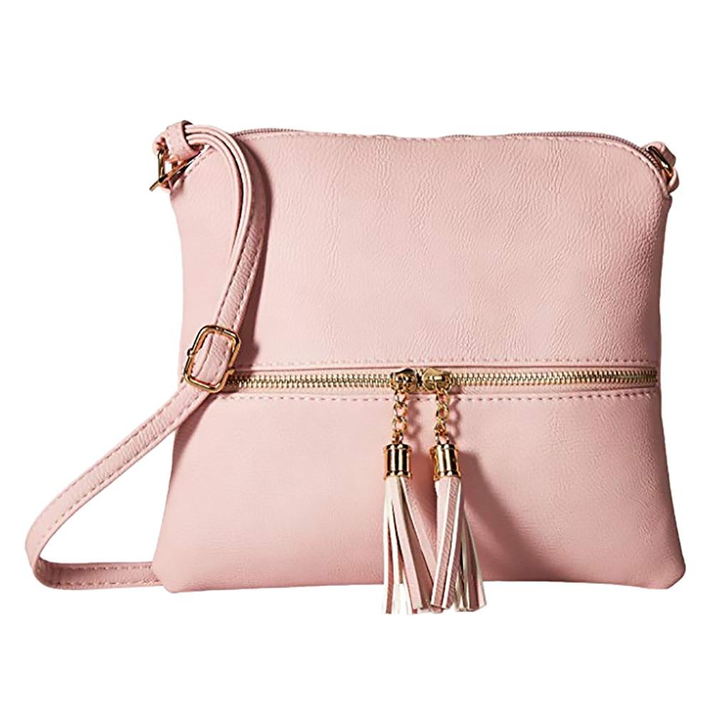 Lightweight Medium Crossbody Bag with Tassel 1