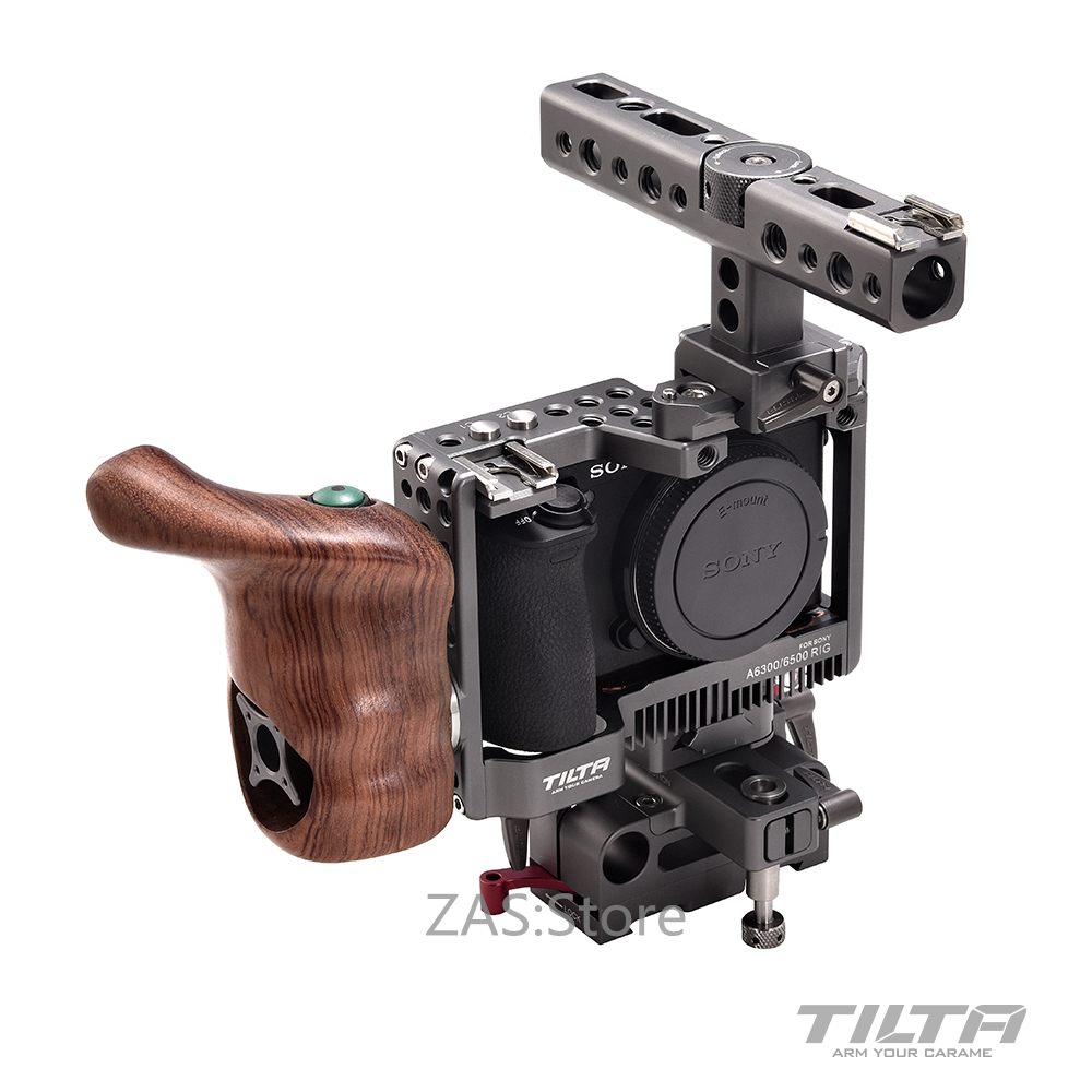 Tilta ES-T27A TILTA for sony A6300 A6500 Rig + Baseplate + Wooden Handle For SONY A6300 A6500 series camera Film shooting sony a6500