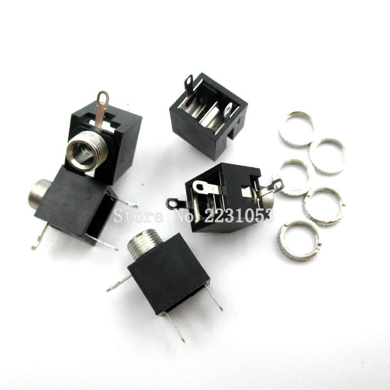 10PCS/LOT 3.5 Pairs Of 3.5-channel Stereo Audio Jack Socket With Nut / 301M Stereo J301M PJ301M