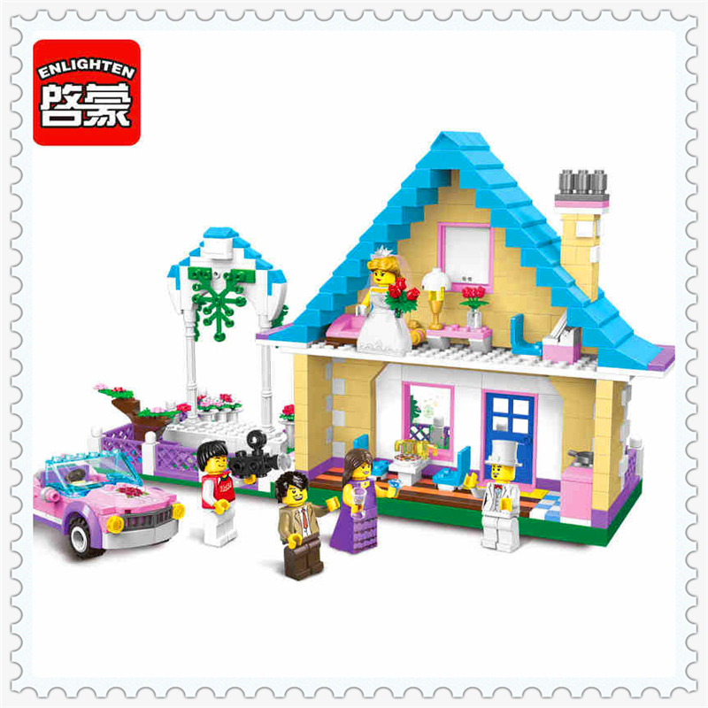 613Pcs Girl Friends Villa Princess Castle Model Building Block Toys ENLIGHTEN 1129 Figure Gift For Children Compatible Legoe princess ponies 6 best friends for ever